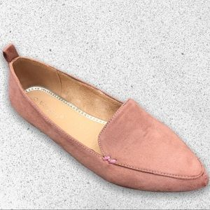 NEW! Blush Pink Pointed Toe Comfort Flat Loafer